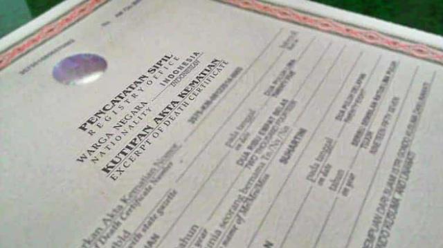 Cara Mengurus Surat Akta Kematian