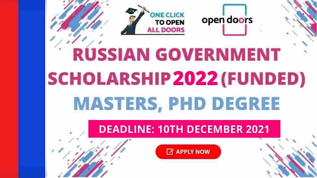 Government of Russia Announced New Scholarship 2022 | Scholarship Fully Funded Apply - Online