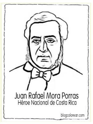 colorear Juan Rafael Mora Porras