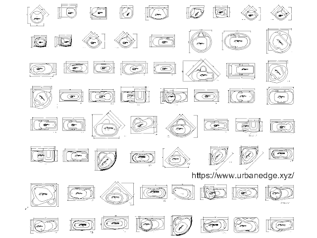 bathtubs cad blocks - 65 free cad block
