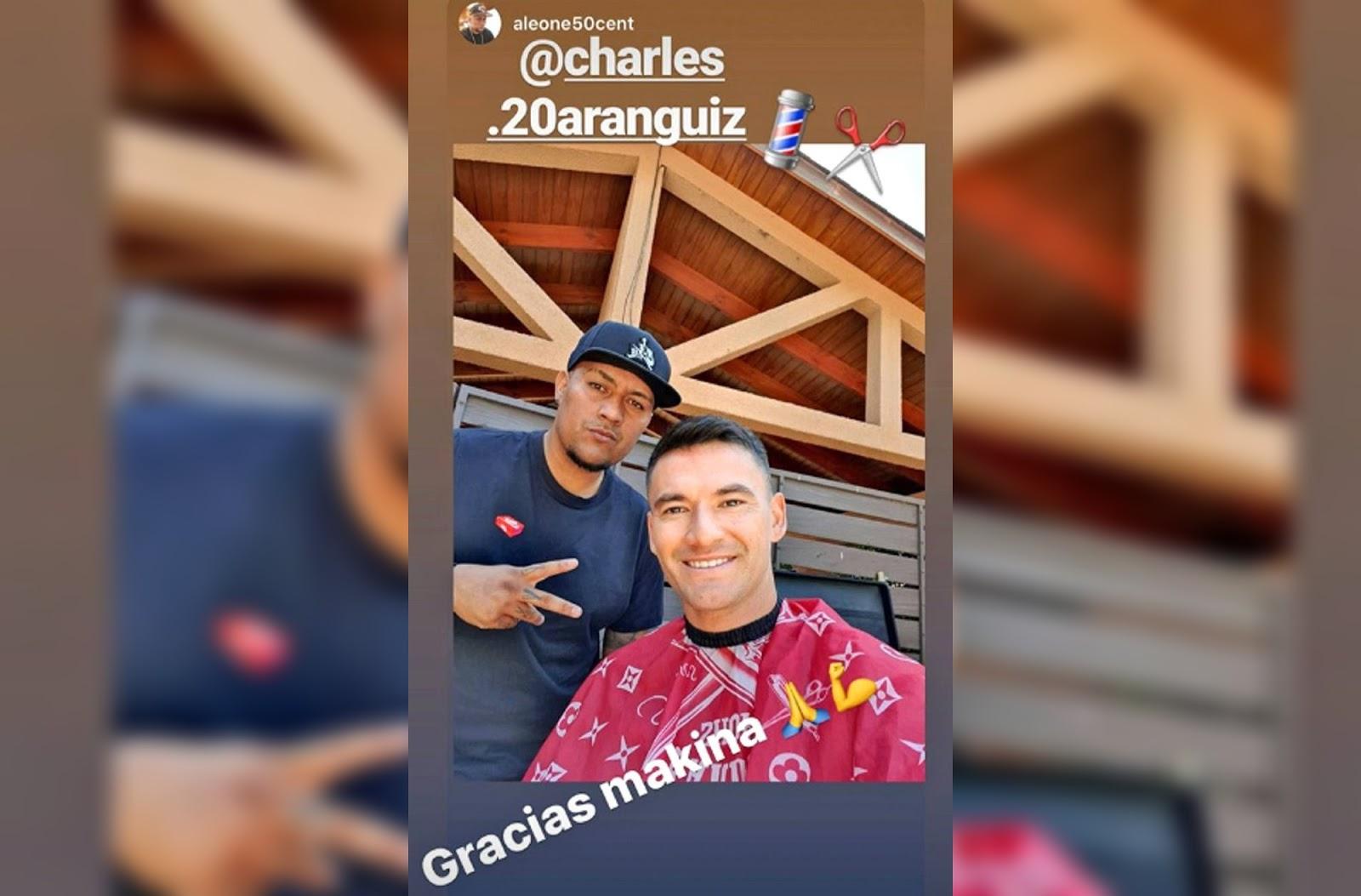 Charles Aránguiz esperó el Año Nuevo con cambio de look