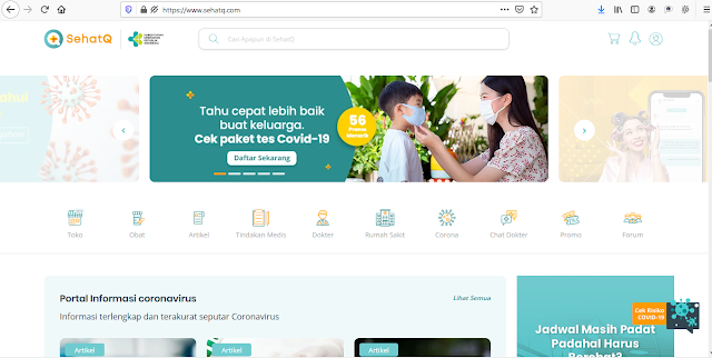Tampilan Landing Page SehatQ