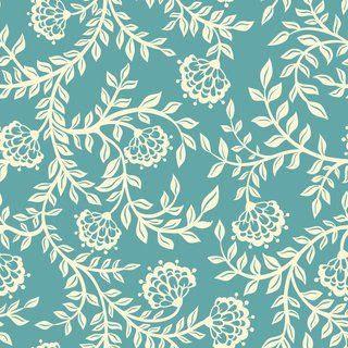 decoração-papel-de-parede-floral-azul