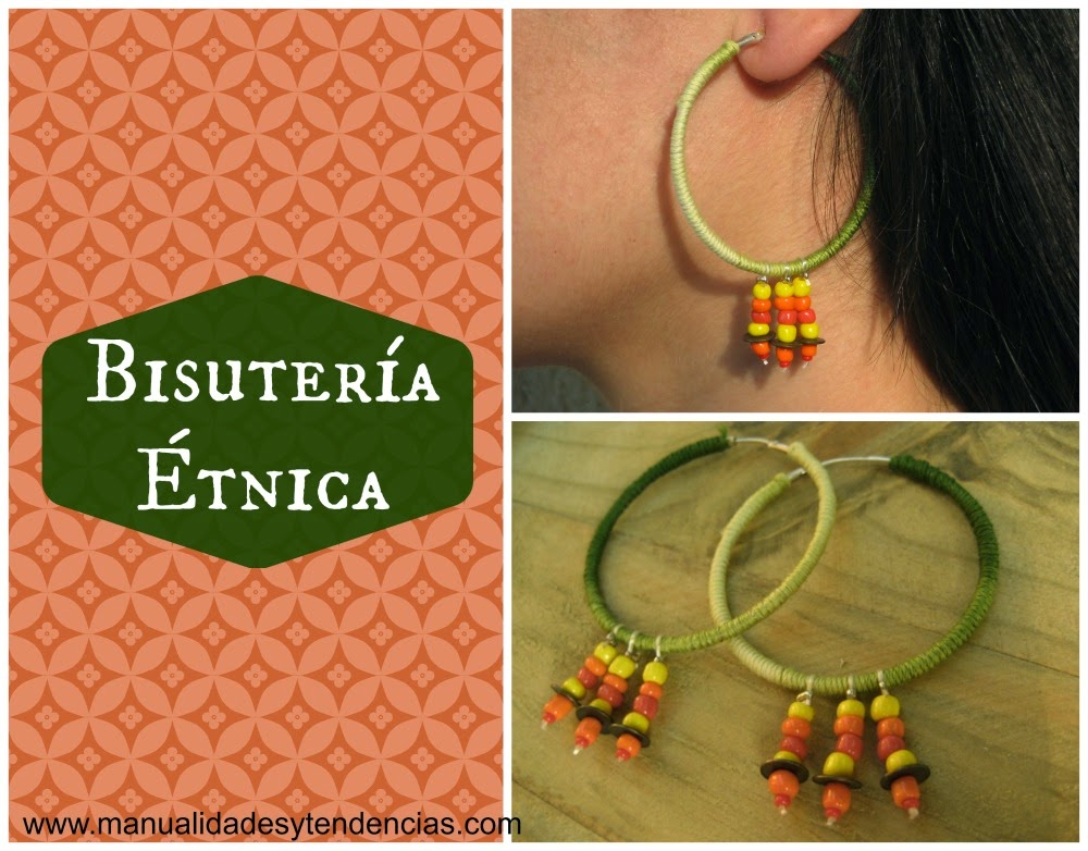DIY Pendientes étnicos / Ethnic hoop earrings / Boucles d'oreille etniques