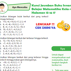 Lengkap Kunci Jawaban Halaman 102 105 Buku Senang Belajar Matematika Kelas 6 Kunci Jawaban Tematik Lengkap Terbaru Simplenews