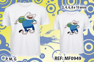 Tal Pai Tal Filho Camisetas Personalizadas Hora da Aventura
