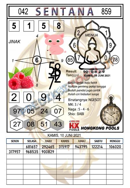 Syair Sentana HK Kamis 10 Juni 2021