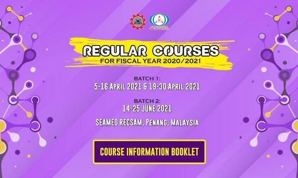 SEAMEO RECSAM Regular Courses FY 2020/2021 Batch 1 & Batch 2