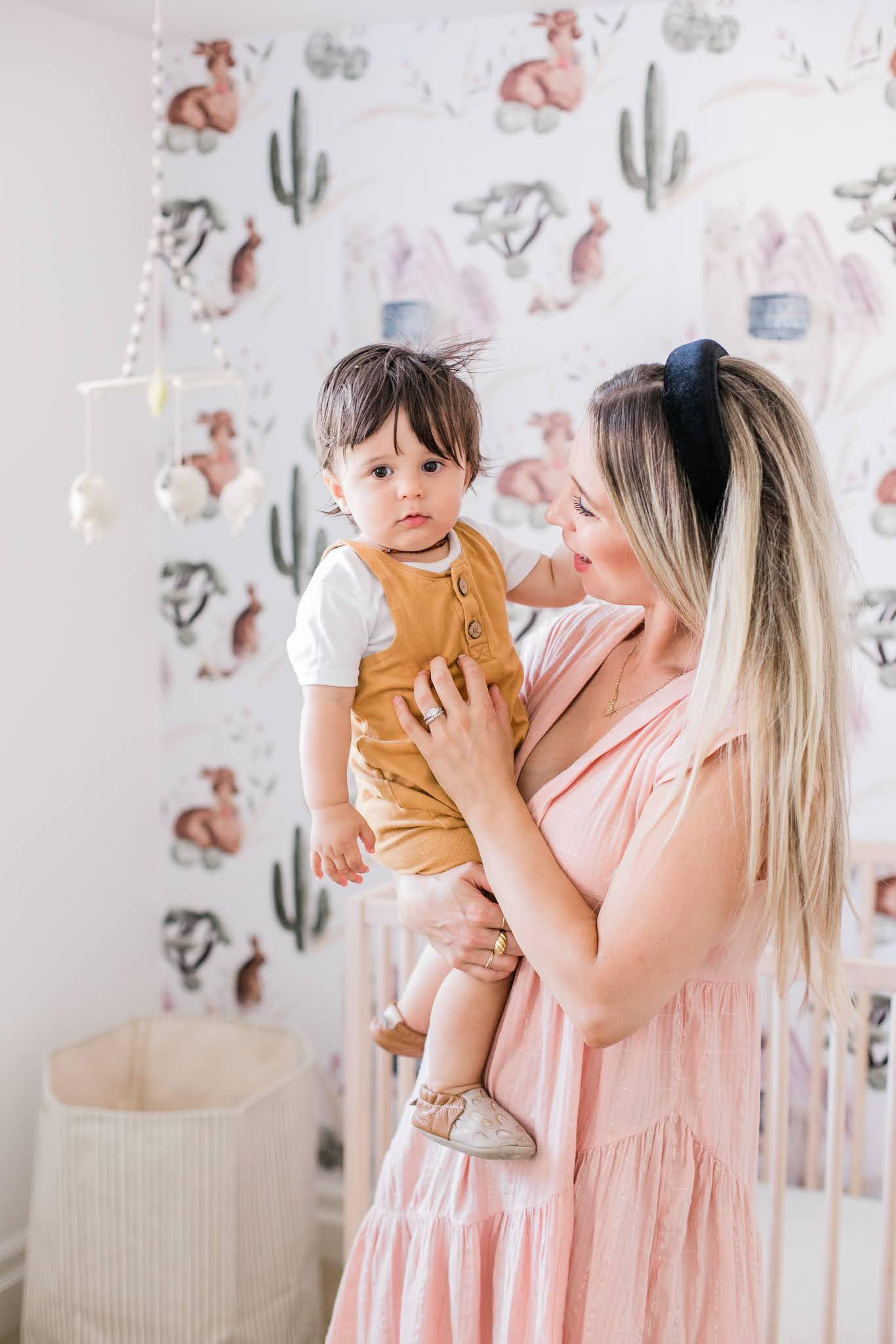 mother and son nursery reveal