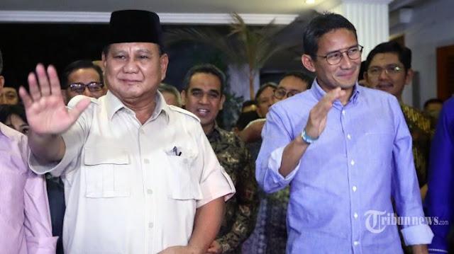 Prabowo-Sandi Tak akan Hadiri Penetapan Capres Terpilih oleh KPU