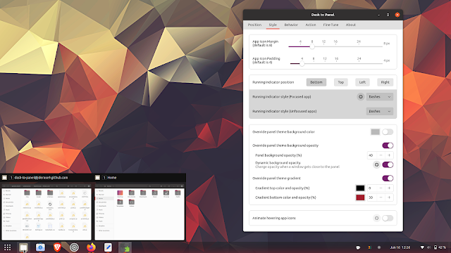 Dash to Panel GNOME 40
