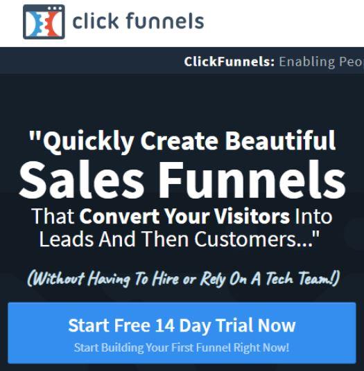 click funnels web landing page conversion