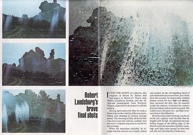 Il fotografo che morì proteggendo la sua pellicola durante l'eruzione del Monte Sant'Elena