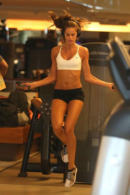 Izabel Goulart – Seen at a gym in Rio de Janeiro