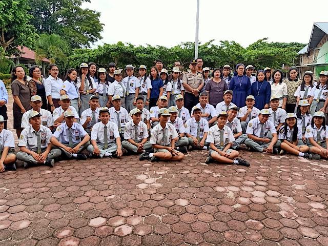 SMA St. Yoseph Aek Kanopan Hadirkan Polsek Kualuh Hulu Labuhan Batu Utara