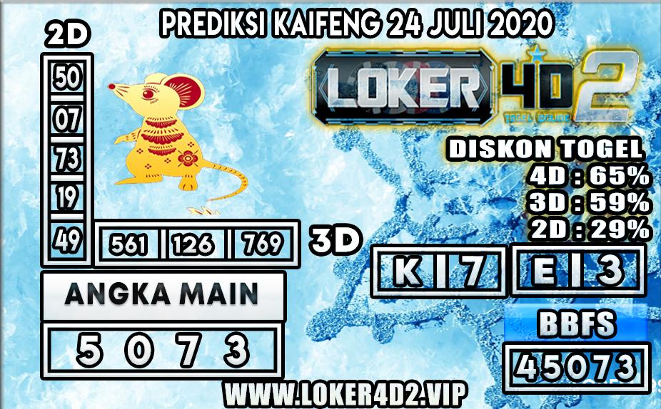 PREDIKSI TOGEL LOKER4D2 KAIFENG 24 JULI 2020