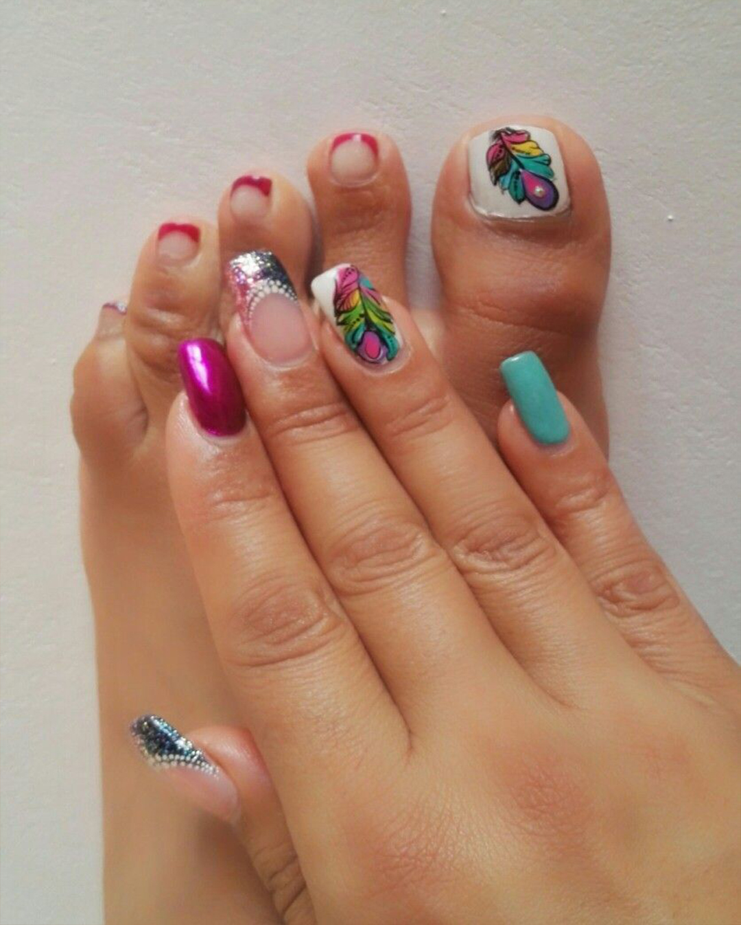 Uñas Decoradas Con Flores Y Mariposas Para Los Pies Elsexoso