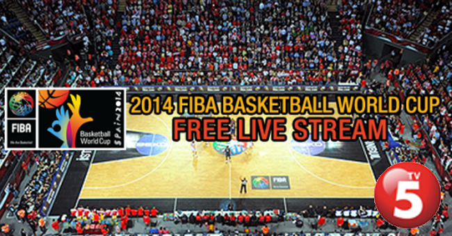 FIBA World Cup 2014 Replay and Live Streaming via TV5