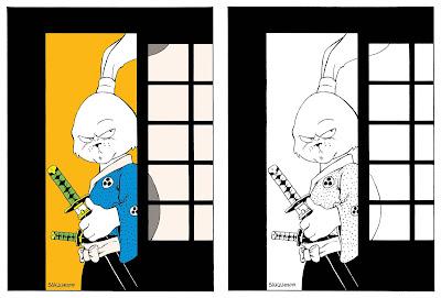 "San Diego Comic-Con 2019 Exclusive Usagi Yojimbo's 1st Appearance ""Albedo #2 Cover"" Screen Print by Stan Sakai"