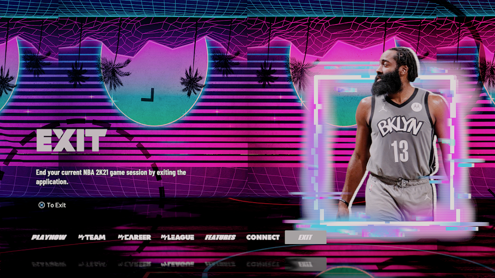 NBA 2K21 Vice City Inspired Menu Background by migo