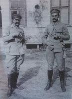 Józef Piłsudski i szef sztabu Kazimierz Sosnkowski