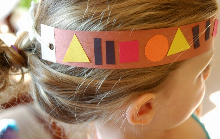 Native American Pattern Headbands for Thanksgiving theme preschool