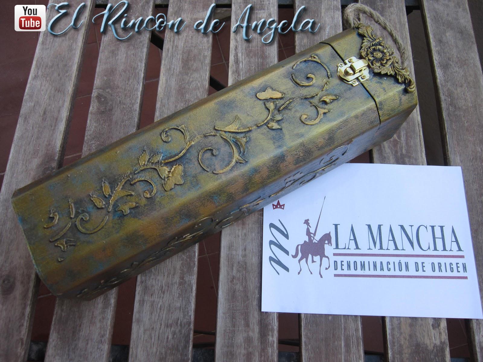 El rincon de angela caja de madera para vino decorada - El rincon azul de angela ...