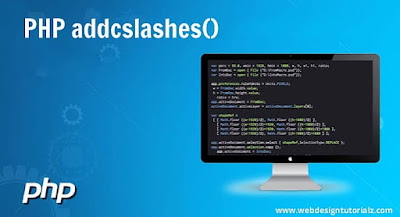 PHP addcslashes() Function