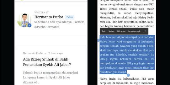 Artikel Fitnah Media Seword: Bisa jadi Habib Rizieq yang Perintahkan Alfin untuk Menusuk Syekh Ali Jaber