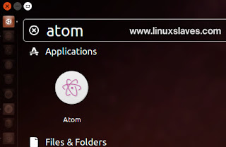 Open Installed Atom via Ubuntu Dash