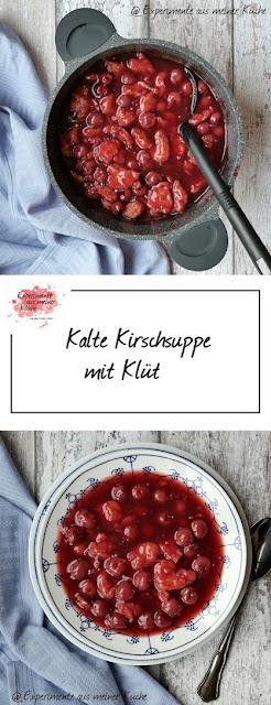 Kirschsuppe mit Klüt   Kochen   Essen   süße Hauptspeise   DDR   Rezept