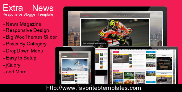 Extra News - Responsive Blogger Template