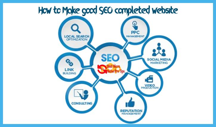 Good SEO completed website – 6 Most excellent Idea to Make?