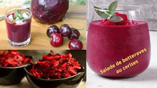 Beetroot salad with cherries