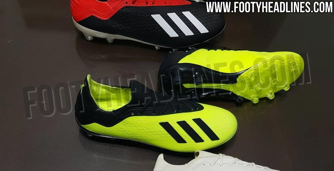 new style c539f 3310c Ahead of the 2018 World Cup, Adidas launched the totally new Adidas X 18  football boot. Now a picture with upcoming Adidas X 18 football boots has  emerged, ...