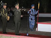 (Pangdam) XIII/Merdeka Mayjen TNI Tiopan Aritonang sebagai inspektur upacara (Irup) pada Apel Kehormatan dan Renungan Suci