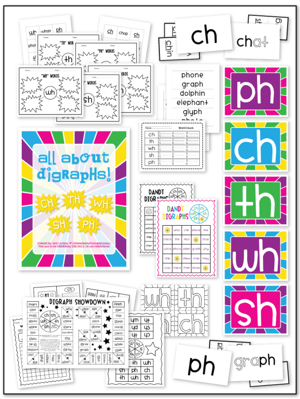 Printable Worksheets ch sh th worksheets : the teacher wife: consonant digraphs