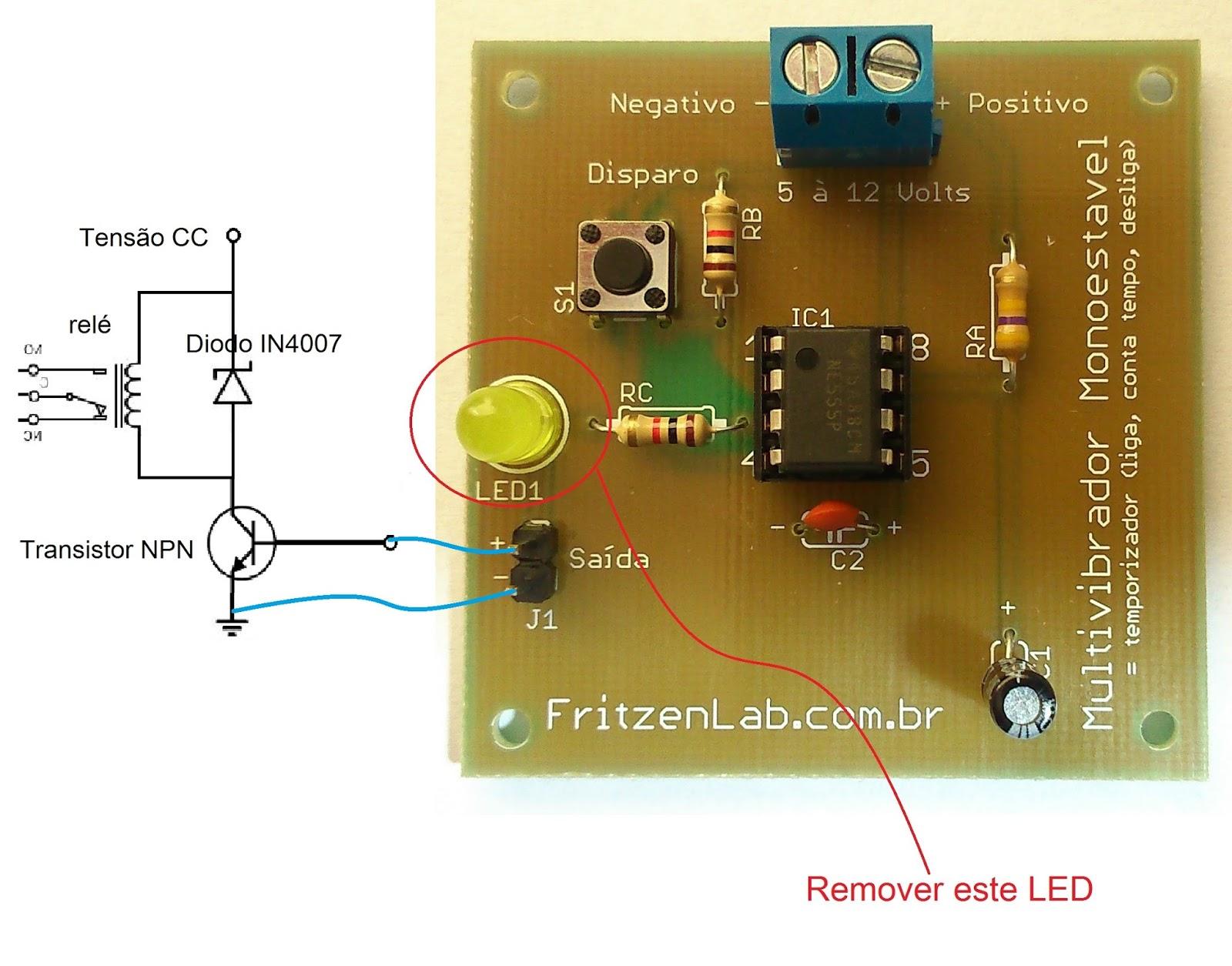 Circuito Temporizador : Temporizador com circuito integrado fritzenlab