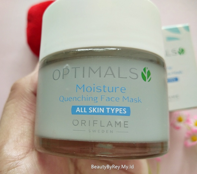 cara pakai optimals moisture quenching face mask