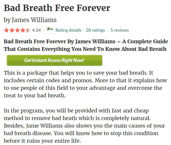 Bad Breath Free Forever PDF reviews SCAM OR LEGIT?  bad breath free forever review, bad breath free forever price, bad breath free forevertm, where to buy bad breath free forever, where can i buy bad breath free forever.