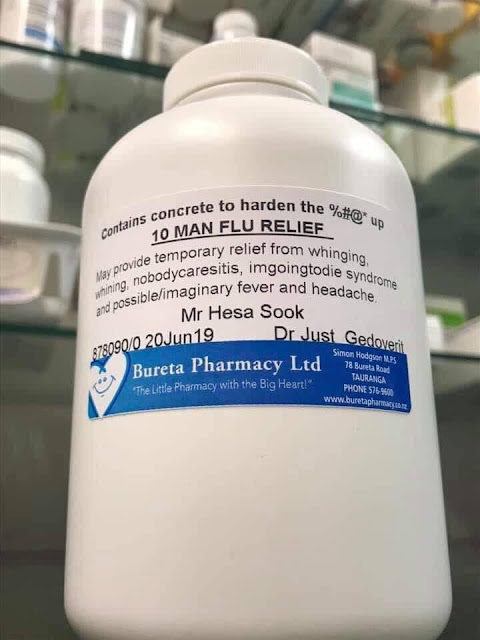Contains concrete to harden the £$£$% up - 10 Man Flu Relief