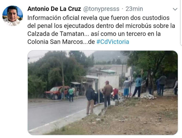 Represalias por muerte lider CDN, CDVICTORIA: EJECUTADOS 3 GUARDIAS DEL PENAL DE TAMATAN Custodios%2Bejecutados