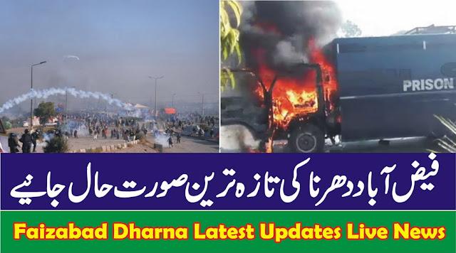 Latest news of Faizabad Dharna