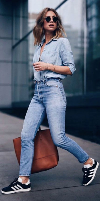 23 Stylish Fall Fashion Ideas for Women Over 30. We've taken the liberty of compiling a list of fall outfit ideas for women over 30. Fall Style via higiggle.com | casual denim look with denim shirt + jeans | #fashion #falloutfits #denim #jeans