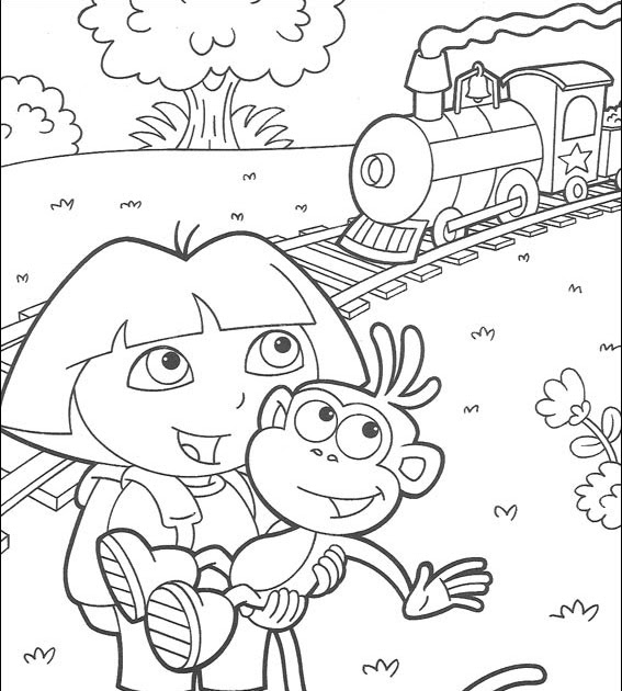 teenage dora coloring pages-#31