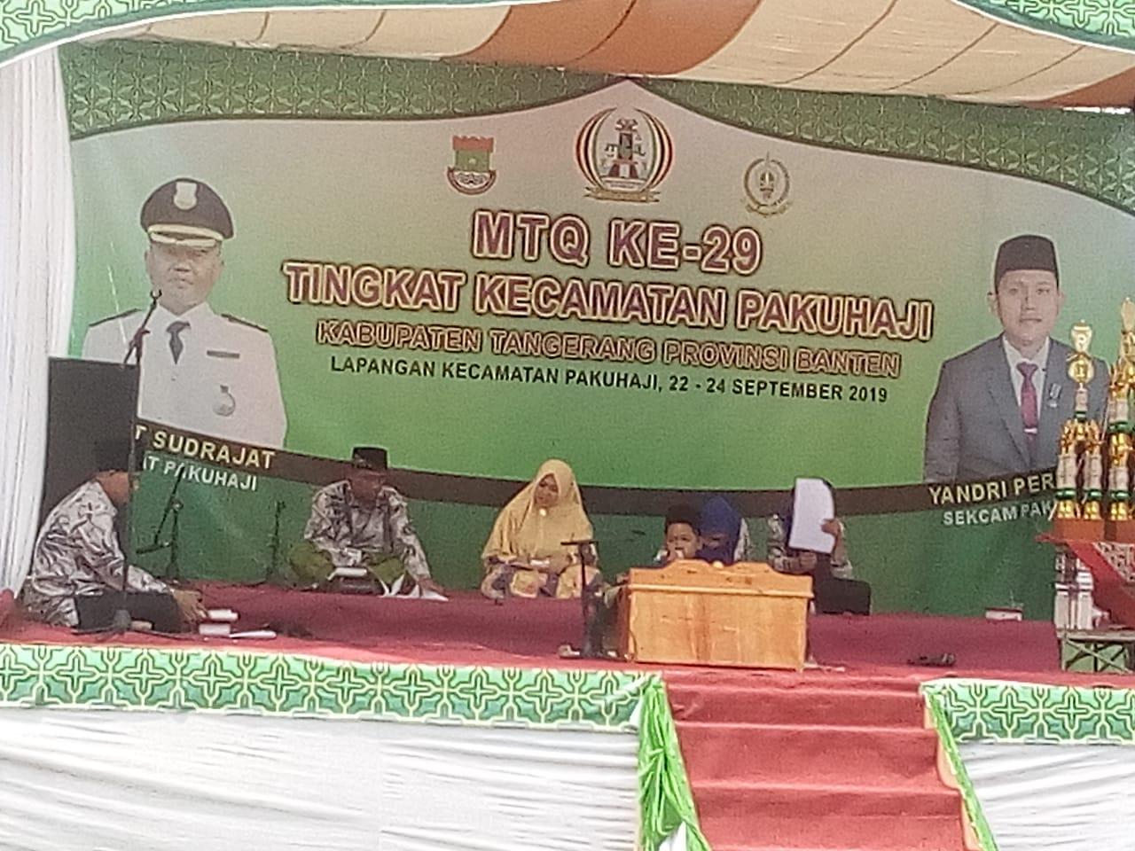 Hari ini, 126 Peserta Ikuti MTQ Ke-29 Tingkat Kecamatan Pakuhaji