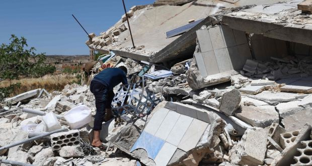 Crime against  Humanity : Artillery attack on a hospital in northern Syria left 15 dead and 50 injured