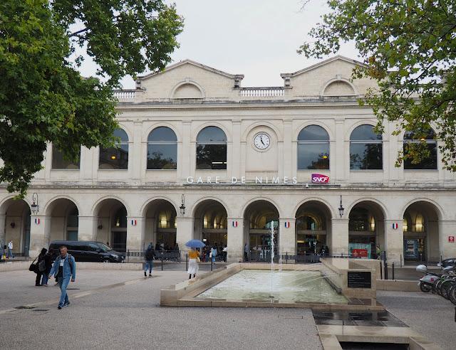 Франция, Ним - вокзал (France, Nimes - train station)