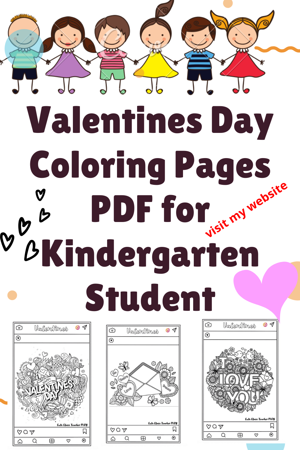 Valentines Day Coloring Pages Pdf For Kindergarten Student