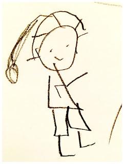 Kinderzeichnung eines Menschen